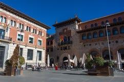 Place de San Juan dans la ville médiévale Teruel, Aragon photos stock