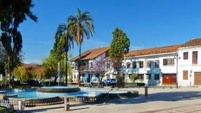 Place de San Sebastian au centre historique de la ville de Cuenca, Equateur images stock