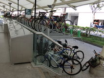 Place de stationnement de bicyclette Image stock