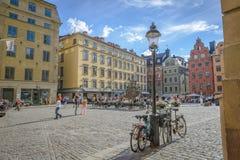 Place de Stortorget à Stockholm Images libres de droits