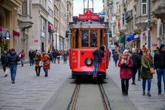 Place de Taksim à Galata photo stock