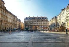 Place de Terreux, ciudad vieja de Lyon, Francia Imagenes de archivo