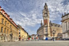 Place de Theatre in Lille, France Royalty Free Stock Images