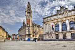 Place de Theatre a Lille, Francia Fotografia Stock Libera da Diritti