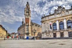 Place de Theatre in Lille, Frankreich Lizenzfreie Stockfotografie