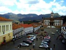 Place de Tiradentes dans Ouro Preto Minas Gerais Brazil photographie stock libre de droits