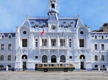 Place de ville centrale de Valparaiso. Photographie stock libre de droits