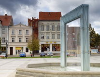 Place de ville dans Chelmno Photos stock