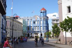Place de ville dans la ville cubaine Photos stock