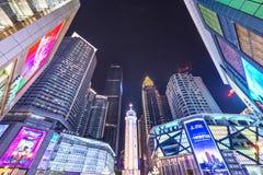 Place de ville de Chongqing, Chine images libres de droits