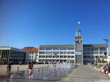 Place de ville de Koszalin Photographie stock