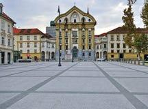 Place de ville de Lyublyana, Slovénie Photo libre de droits