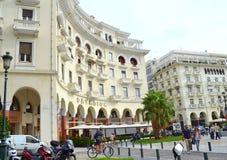 Place de ville de Salonique Image libre de droits