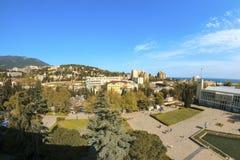 Place de ville de Yalta Images libres de droits