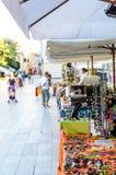 Place de ville du marché sur l'île de Rab photos libres de droits