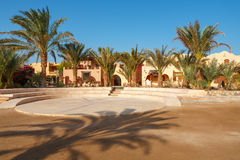 Place de ville. EL Gouna, Egypte Photos stock