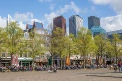Place de ville à la Haye Image libre de droits