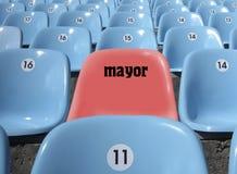 Place de VIP pour le maire au stade. Photos libres de droits