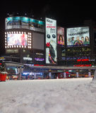 Place de Yonge et de Dundas pendant l'hiver Photographie stock libre de droits
