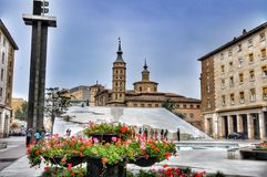Place de Zaragosa Photo stock