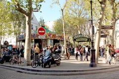 Place des Abbesses - Montmartre Paris royalty free stock photography