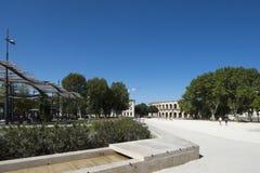 Place des Arènes, Nîmes, France Stock Photo