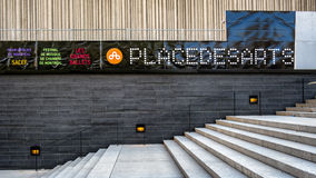 Place Des Arts Exterior Stairs Stock Photo