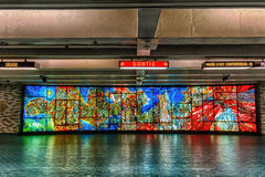 Place des Arts subway station. Place-des-Arts Frédéric Back Stock Photo