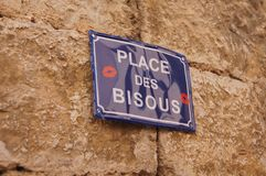 Place des bisous, Palace of kisses royalty free stock photo