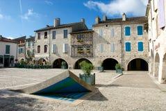 Place des Cornières Lauzerte Royalty Free Stock Images