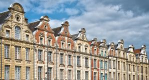 Place des Heros in Arras, North of France. Place des Heros, Arras, North of France Stock Photos