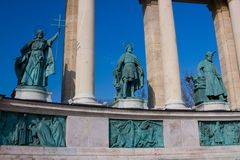 Place des heros, budapest. Place des heros in budapest Stock Photo