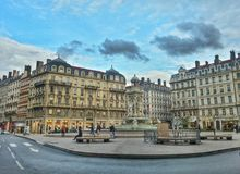 Place des Jacobins de Lyon, lyon old town, France Stock Photos