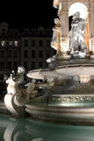 Place des Jacobins in Lyon by Night Stock Photo