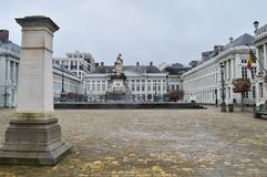 Place des Martyrs Martyrs` Square, Brussels, Belgium royalty free stock image