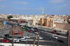 Place des Nations Unies à Casablanca images libres de droits