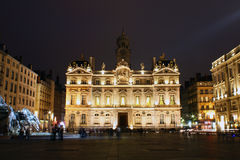 Place Des Terreaux At Night, Lyon, France Stock Photo