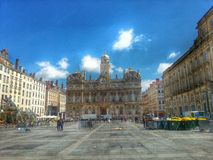 Place des terreaux and the city hall of lyon, Lyon, France Stock Images