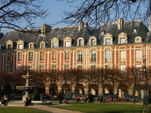 Place des vosges. In Winter, Paris stock photography