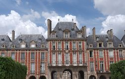 Place des Vosges facade royalty free stock image