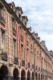 Place des Vosges facade stock images