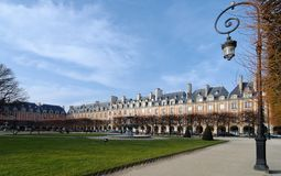 Place des vosges in Paris Stock Photos