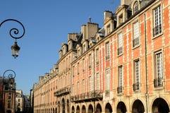 Place des Vosges in Paris stock photography