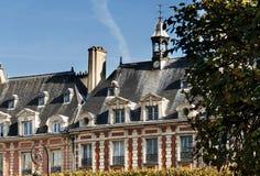 Place des Vosges, Paris - building stock images