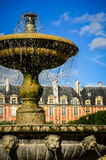 Place des Vosges, Paris, France - the fountain in close-up Royalty Free Stock Photos