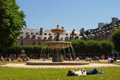 Place des Vosges in Paris. stock photo