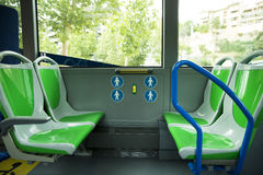 Place for disabled people and babies in a bus Stock Image