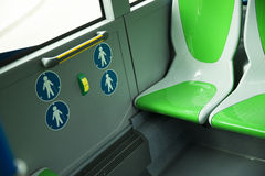 Place for disabled people and babies in a bus Royalty Free Stock Image