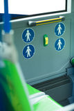 Place for disabled people and babies in a bus Royalty Free Stock Images