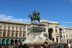 Place Dom Milano City image stock
